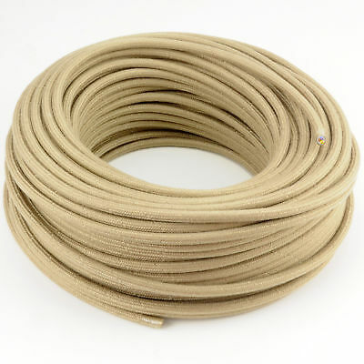 3x0,75 H03VV Textilkabel Leitung Textilfaser umflochten rund orange