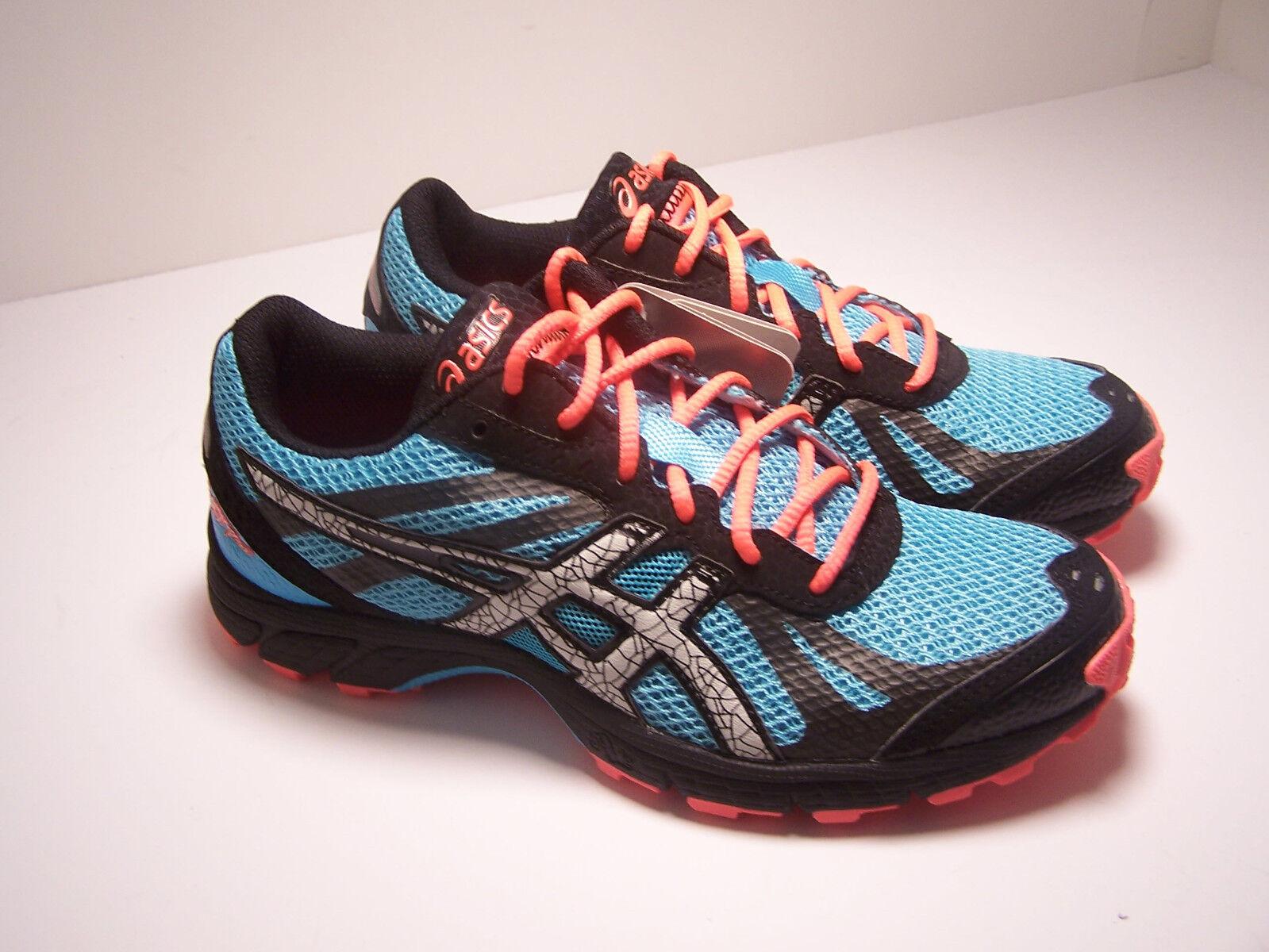 ASICS GEL- FUJI RACER Womens shoes Running Size 5 bluee Grey Pink  NEW