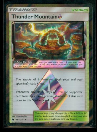 MINT Pokemon THUNDER MOUNTAIN PRISM STAR 191//214 Lost Thunder RARE HOLO