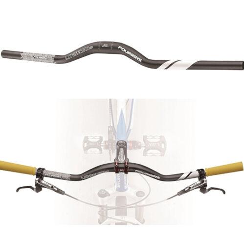 FOURIERS Bike Low Rise Handlebar 31.8mm 740mm Back Sweep 9° Up 5° Rise 40mm 60mm