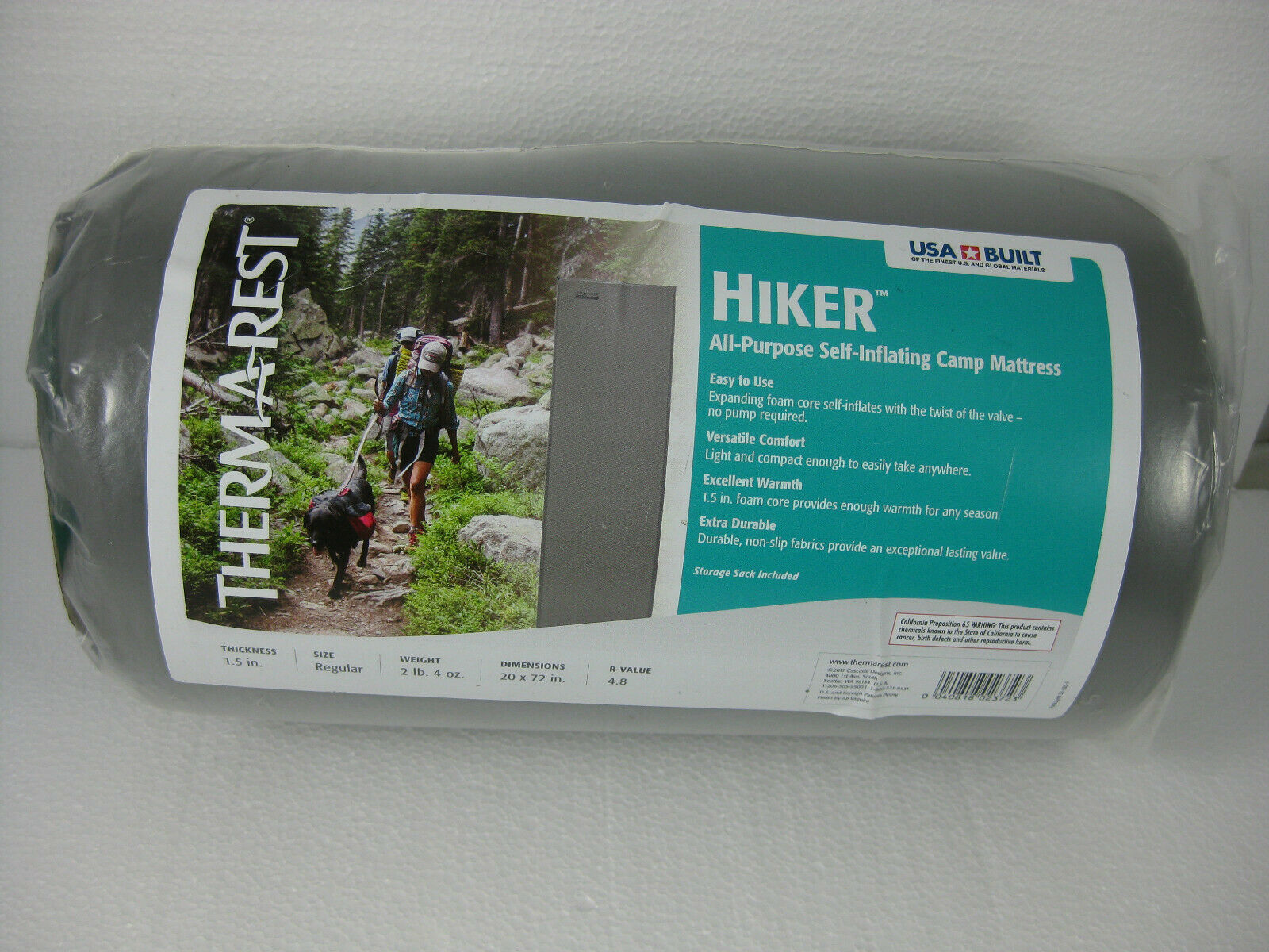 Therma-rest  hiker all purpose self-inflating camp mattress grey NEW  limited edition