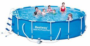 Bestway pool 427x100 schwimmbecken stahlwand komplettset for Schwimmbecken stahlwand