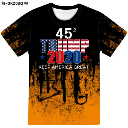 2020 Trump Keep America Great 3D Printed T-Shirt Casual Shortsleeve O Neck Tops