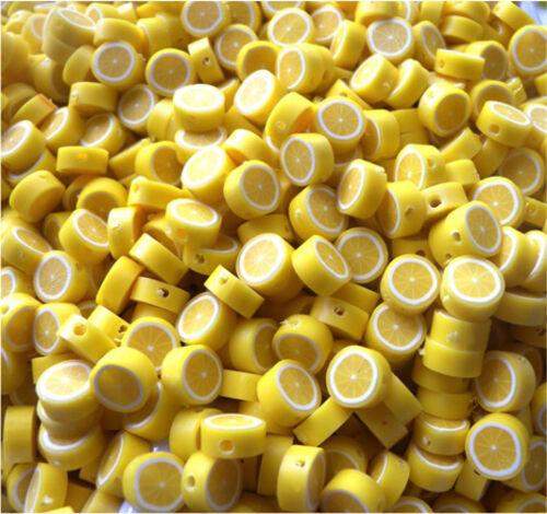 Quantité limitée très en demande citron perles 10MM argile polymère fast free p/&p