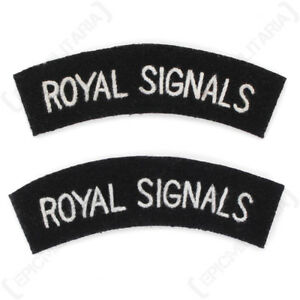 Royal Signals WW2 Repro Shoulder Titles Patch Badge Sleeve Flash Arm Army New