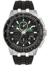 New Citizen Eco-Drive Skyhawk Chrono AT Rubber Strap Men's Watch JY8051-08E