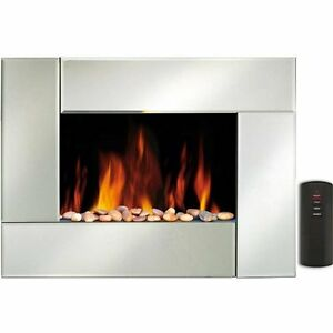 Image Is Loading Wall Mounted Electric Fire Fireplace Mirror Effect Plasma