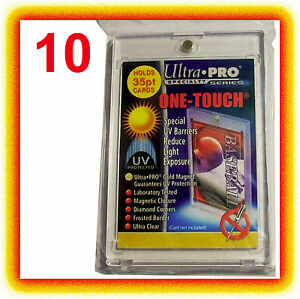 10-Ultra-Pro-ONE-TOUCH-MAGNETIC-35pt-UV-Card-Holder-Display-Case-Two-Piece-81575