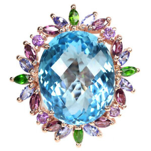 BIG-REAL-BABY-BLUE-TOPAZ-TANZANITE-RHODOLITE-AMETHYST-STERLING-925-SILVER-RING-7