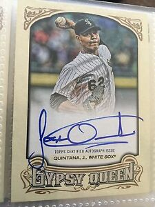 2014 Jose Quintana Gypsy Queen Autograph Rookie GQA-JQ White Sox Baseball