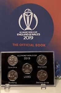 2019-Isle-of-Man-Official-ICC-Cricket-World-Cup-50p-coin-Display-Case-NO-COIN