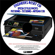 EPSON STYLUS PX720WD WASTE INK PAD COUNTER FAULT ENGINEERS RESET CDROM FIX NEW