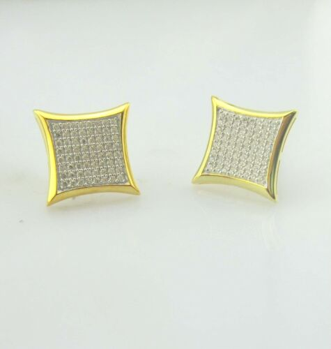 Hip Hop Style ice out Sterling Silver Men//Woman  Earrings Micro-Pave CZ setting