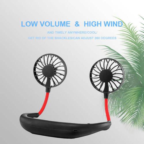 Portable Hanging Neck Sport Fan Lazy Neckband USB Rechargeable Personal Mini Fan