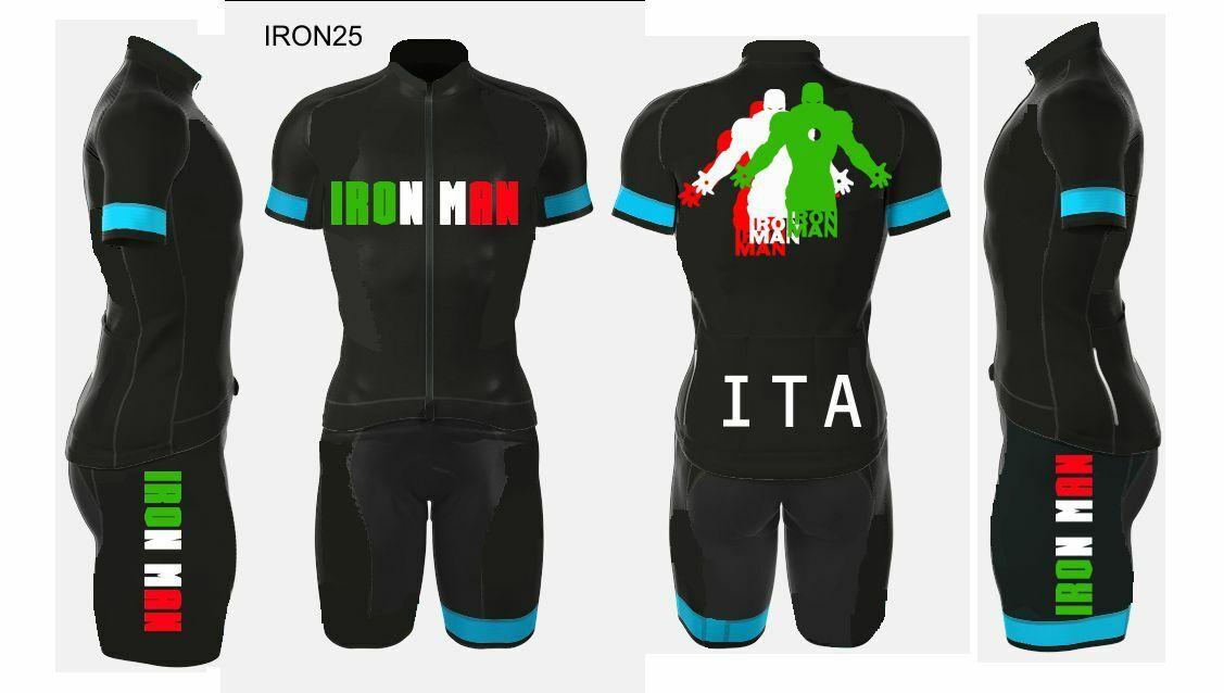 IRONMAN ITALIA 2019 MAGLIA  SALOPETTE PERSONALIZZABILE MTB BICI BIKE CYCLING SET  directo de fábrica