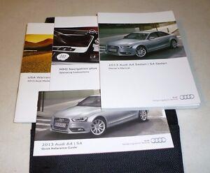 2013 audi a4 s4 sedan owners manual set 13 w case mmi navigation rh ebay com 2014 audi s4 owners manual 2014 audi s4 owners manual