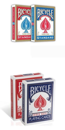 4 mazzi carte Bicycle Standard index Rider back old case