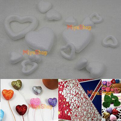 New Polystyrene Styrofoam Foam Heart DIY Accessory Handmade Party Decorations