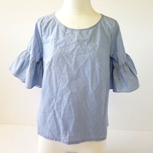 Madewell Bell Sleeve Blouse/Top Womens XS Back But