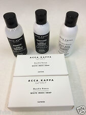 Acca Kappa Shampoo Conditioner Body Lotion & 2x Soap Bars Travel Kit