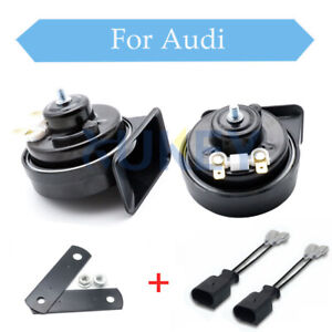 12V-110-125db-410-510Hz-Waterproof-High-Low-Pitch-Loud-Car-Snail-Horn-For-Audi