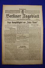 """BERLINER TAGEBLATT (26.1.1917): Rege Kampftätigkeit am """"Toten Mann"""""""