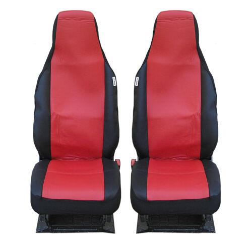 Sitzbezüge Schonbezüge rot schwarz Polyester neu für Peugeot 107