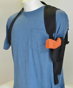 Vertical-Carry-Shoulder-Holster-for-GLOCK-19-23-amp-38-Pistol-with-Laser-Sight