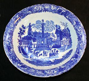 Vintage-Blue-On-White-China-Victoria-Ware-Ironstone-19th-Century-porcelain-bowl