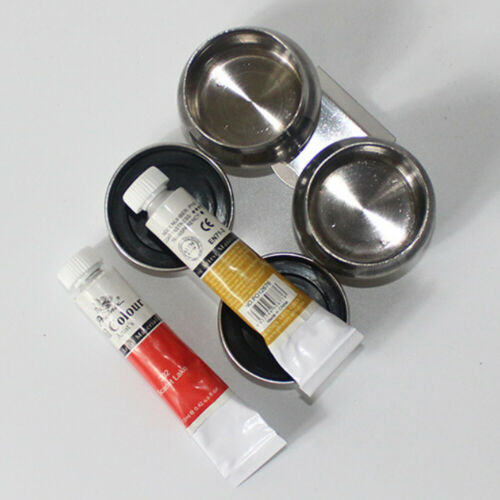 Single//Double Painting Art Container Palette Cup Dipper Solvent Oil Mixing Tool