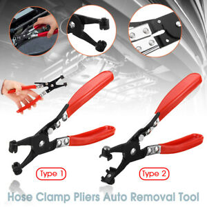 Car-Pipe-Flat-Band-Ring-Hose-Clamp-Pliers-Clip-Swivel-Jaw-Removal-Tool-Straight