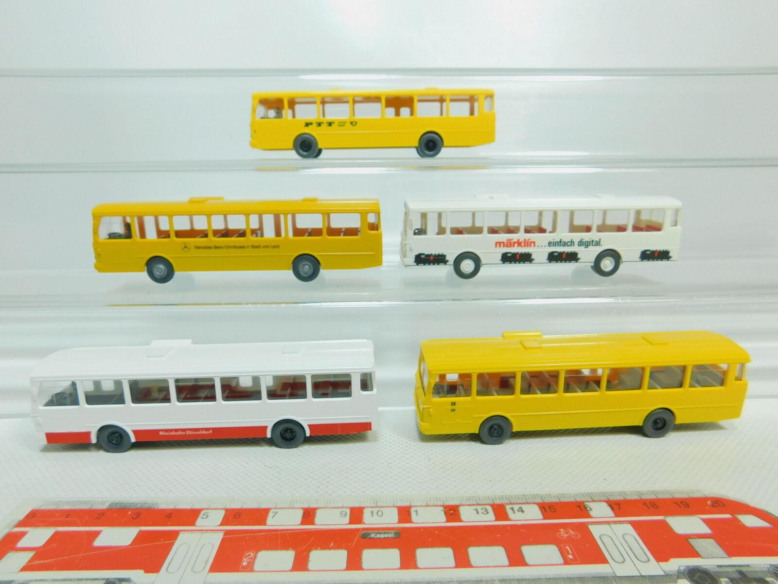 Bo796-0,5   5x wiking h0   87 700 autobus mb o 305 m ä rklin + + dbp telekom ecc.,