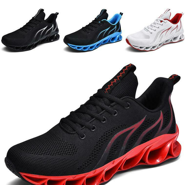 Mens Mesh Breathable Ultra-light Soft Lace up Fashion Blade Vogue Sneakers shoes