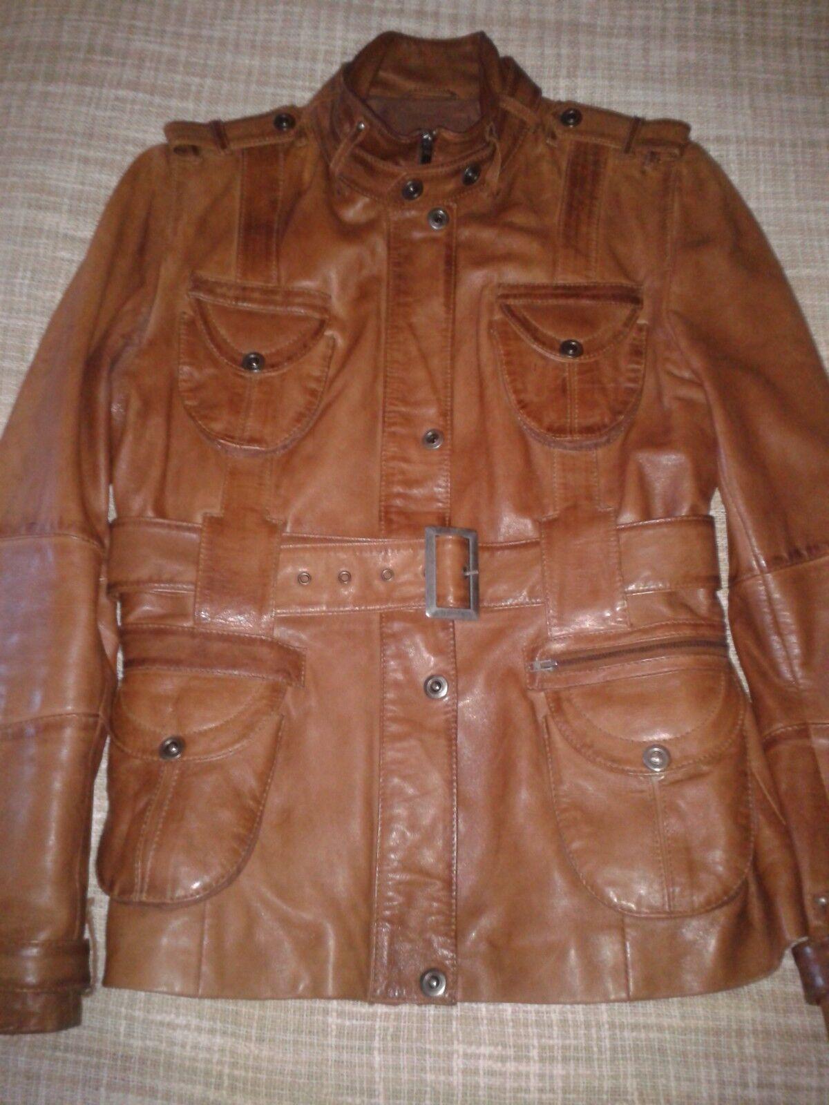 Hermes Govantes  chaqueta de cuero, 40  ahorrar en el despacho