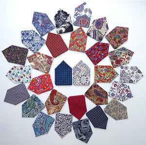 Mens-Pocket-Square-Paisley-Floral-Polka-Dot-Handkerchief-Hanky-Wedding-Suit-Spot