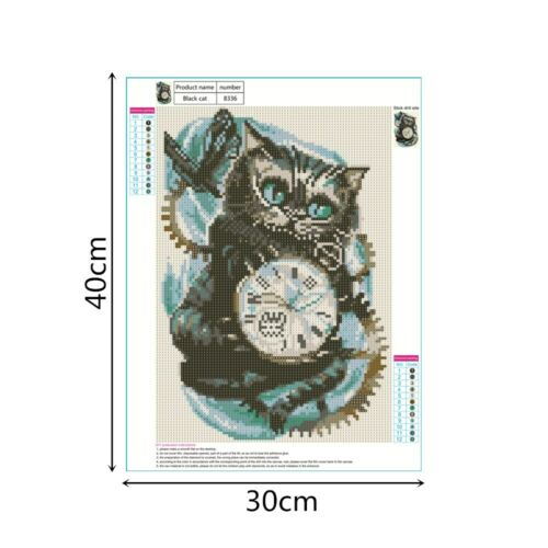 5D DIY Full Drill Diamond Painting Animals Cross Stitch Kits Art Wall Decors