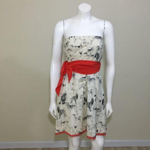 Maeve Anthropologie Fetch & Frolic Dress Sz 4 Ivor