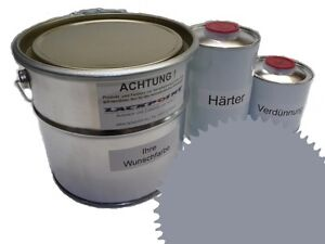 1,5 Liter Set 2K Floor Coating Ral 7045 Tele Grey Shine Floor Color Workshop