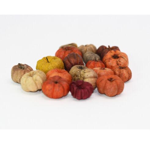 Dollhouse Miniature Autumn Pumpkin Pods for Dollhouse Miniature Seasonal Decor
