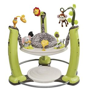 ExerSaucer-Jump-Learn-Stationary-Jumper-Jungle-Quest-Play-Center-Activity-New