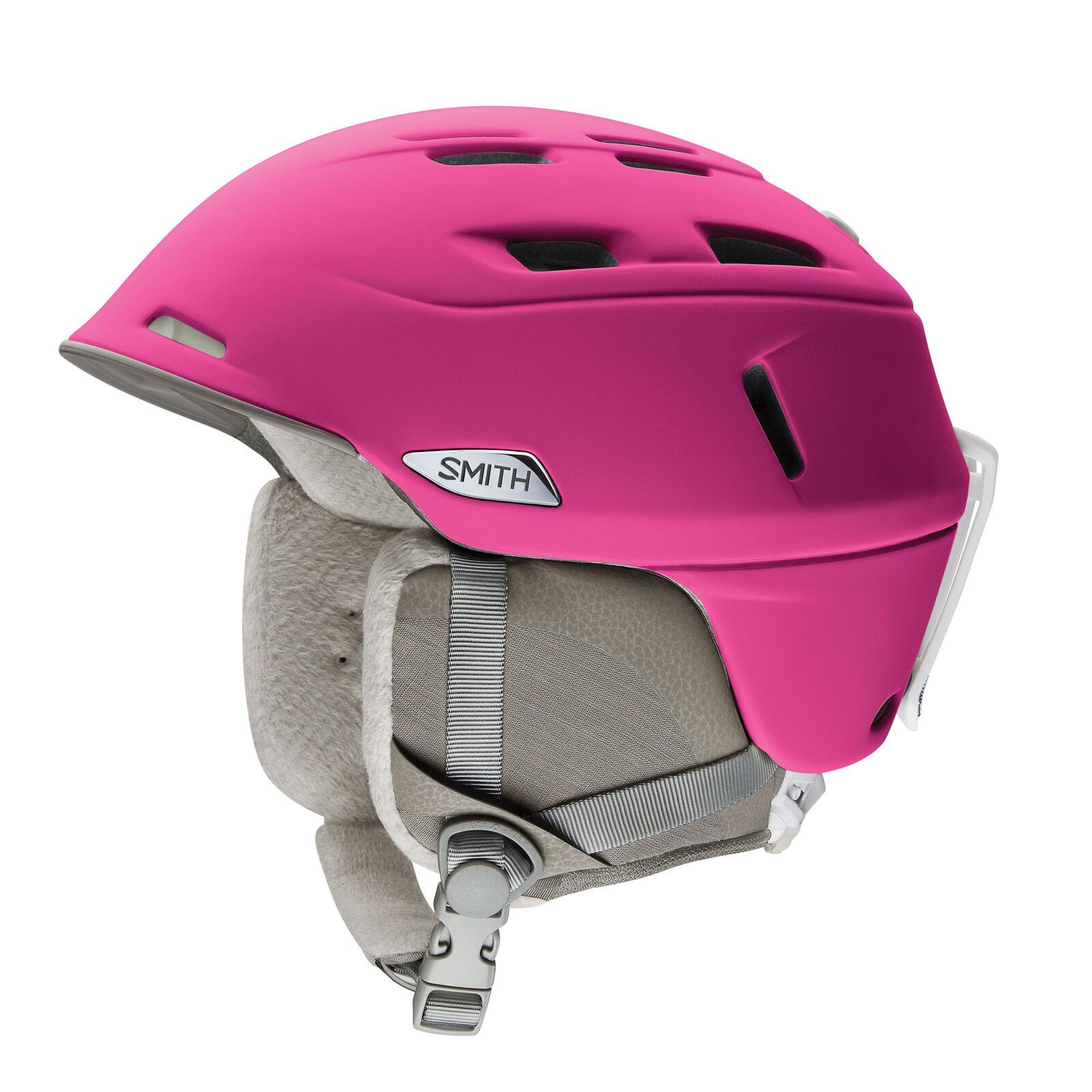 Smith Skihelm Snowboardhelm COMPASS pink leicht Unifarben Ohrenpolster