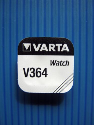 3x V364 VARTA 1,55 Volt/20mAh  Uhrenbatterie - SR60 - SR621 - SR621SW - VARTA