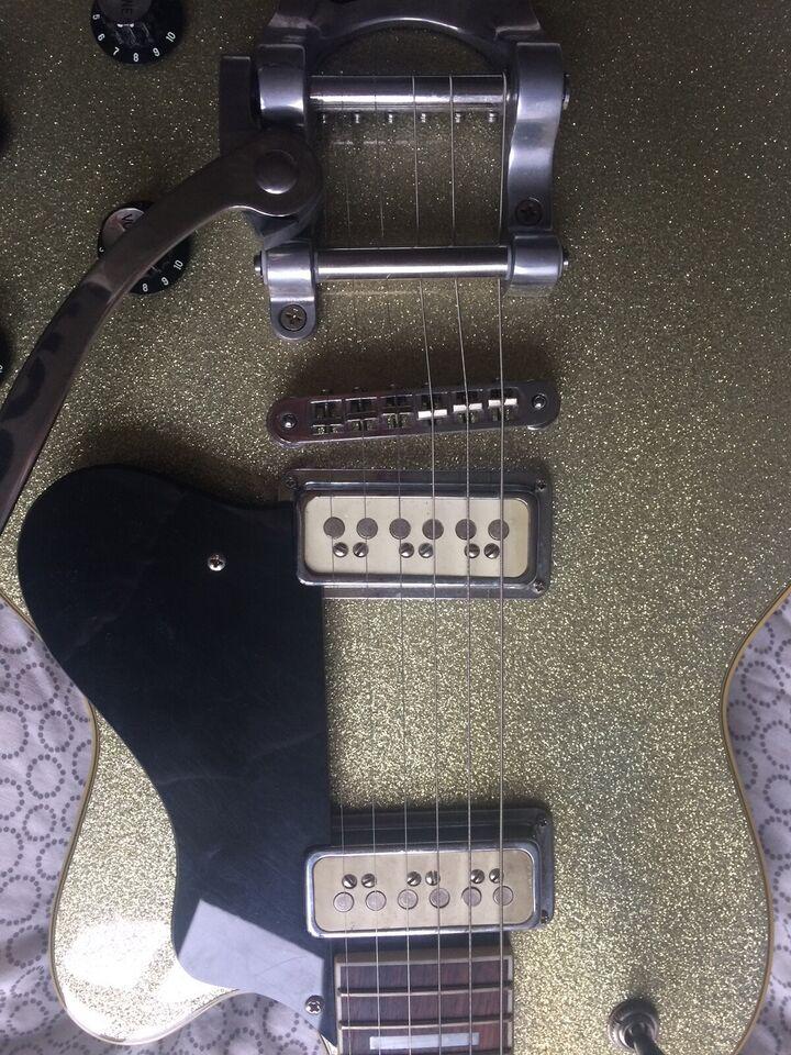 guitar, Guild DeArmond M75T, Gold Sparkle