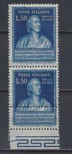 Italia Repubblica 1949 Invenzione Pila Volta 50L Varietà MNH**(TD)