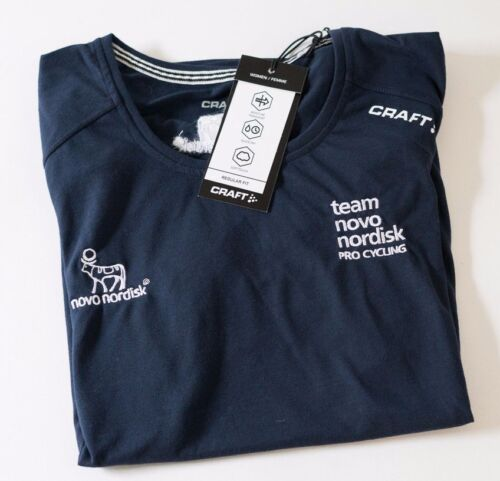 Navy size Large New Women/'s Craft Team Novo Nordisk In-The-Zone Tee Shirt 2-pk
