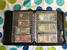 Mixed Banknote Paper Money File - D-Ring Binder with Chain + 15 Note Sheets