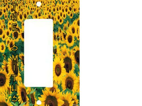 PERSONALIZED SUNFLOWER FIELD ART SUN FLOWERS LIGHT SWITCH PLATE COVER