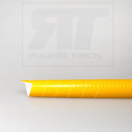 PREMIUM 4D Carbon Auto Folie Gelb Glanz Luftkanäle Wrap BALSENFREI 8,88€//m²