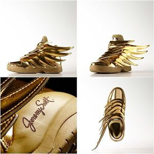Adidas Jeremy Scott Wings 3 0 Gold Batman Dark Knight Shoes 4 5 6 5 Kids Women S Ebay