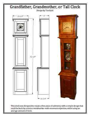 WOODWORKING PLANS - Grandfather / Grandmother / Tall Clock - WOODWORKING PLANS